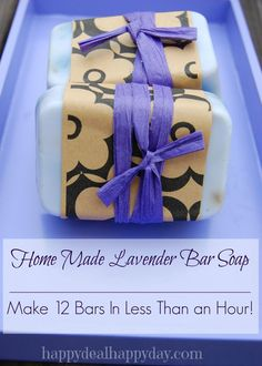 EASY Lavender Home Made Soap Making | Great Gift Idea! WOW this is way easier than I imagined it would be!! happydealhappyday.com
