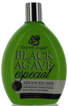 Brown Sugar Black Agave Especial Tanning Lotion with Bronzers by Tan Inc Tequila Agave, Indoor Tanning Lotion, Massage Oil, Vitamin E, Deodorant, Brown Sugar, Coconut Oil, Deserts, Things To Sell