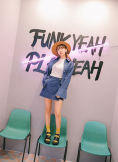 korea daily style #stylenanda2016 #kangjiwon 3ce, Stylenanda, Asian Fashion, Skirt Fashion, Daily Fashion, Dress Up, Korean Style, Denim, My Style