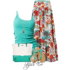 Maxi+Skirt+Outfits+2013 | Stylish Eve Outfits 2013: Quick and Stylish Floral Maxi Skirts