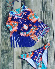 Vintage Tassel Bikini Set,It's my favorite swimwear in my closet.