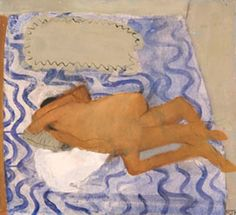 Blue - couple - beach - Locked in Love 1970 - painting - Rose Hilton Lisa Edwards, Tate St Ives, Helene Schjerfbeck, Pierre Bonnard, Royal College Of Art, Small Canvas, Life Drawing, Art School, Oil On Canvas