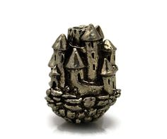 Green Girl Studios Pewter Floating Castle Bead by createyourbliss, $8.00