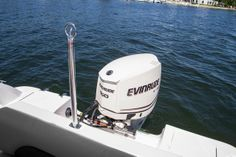 Hurricane SunDeck Sport SS 201 OB: We like this basic towing pylon but we'd go for the Evinrude E-TEC 135 H.O. instead of the 150 shown here. See reasons why in the engine section above.