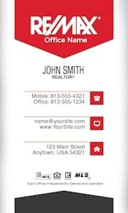 Remax business cards more than 50 templates to choose from free minimal vertical remax business card template design reheart Gallery
