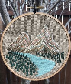"""sosuperawesome: """" Embroidery Hoop Wall Hangings by Forest Fibers Studio on Etsy More like this """""""