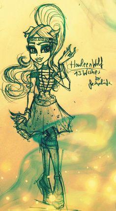 Howleen Wolf 13 Wishes Fan Art Sketch