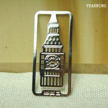 Grátis frete DIY criativo liga de prata de londres Big Ben Bookmark 35 * 16 mm 15 pçs/lote(China (Mainland))