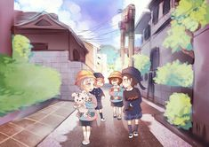 Who let these four cuties walking on their own.. what if they got kidnapped?! Just look at them and tell me you don't want to kidnap them. XP