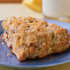Fat-free buttermilk and reduced-fat cheese help to make these Ham and Cheese Scones only 217 calories.
