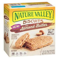 Nature Valley - Granola Bars, Snacks, Nut Bars, Granola, and Protein Bars Peanut Butter Biscuits, Cinnamon Biscuits, Biscuit Sandwich, Sandwich Cookies, Nature Valley Granola, Healthy Afternoon Snacks, Breakfast Biscuits, Cinnamon Almonds, Savory Snacks