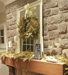 Christmas decorating the mantle | Decorating ideas