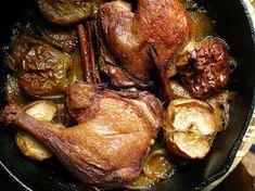 Crispy duck legs with apples.  duck w/ apples (batta tufahiyya) by mercedes l., via Flickr