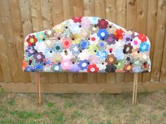 A charity shop bought double headboard, recovered in my own handmade patchwork. £150. Please contact me at dicolbear@hotmail.comif you wish to purchase.