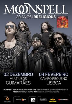 The Music Spot: Moonspell anunciam data extra