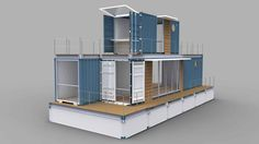 20ft container houseboat
