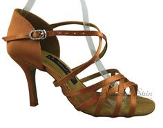 Natural Spin Signature Latin Shoes(Open Toe):  H1162-02_DrTanS