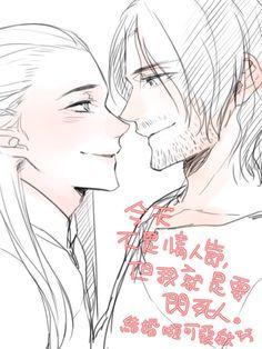 Legolas x Aragorn