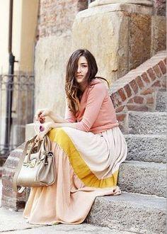 品があって可愛らしいロンスカ♡秋冬 ファッションのロングスカートの着こなし参考例を集めました♡