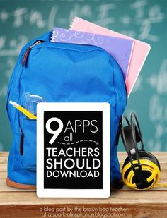9 Apps that ALL teachers should have their on their iPads!