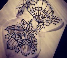 Acorn tattoo ideas.