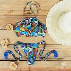 Biquíni Cropped Paisagem - Caribe Brasil | Beachwear