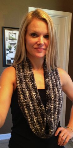 I like this weight - and colors  - Crochet scarf   Infinity scarf