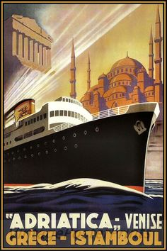 Adriatica Ocean Liner Venice Greece Istanbul by Shiphttp://stores.ebay.com/Vintage-Poster-Prints-and-more
