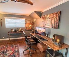 "68 Likes, 2 Comments - Setup Tour (@setuptour_) on Instagram: ""Home office space /// #SetupTour⠀ ⠀ Source: @pneub⠀ #homeoffice #setup #setups #workspace…"""