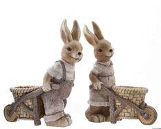 Húsvéti nyuszi talicskával Easter Bunny, Teddy Bear, Toys, Animals, Activity Toys, Animales, Animaux, Clearance Toys, Teddy Bears