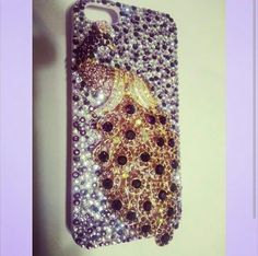 Peacock bling phone case! Search for Paiges Infinite Bling on facebook, instagram, and etsy!