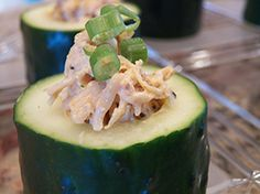 Buffalo Chicken Cucumber Cup - Dialysis Friendly Recipe