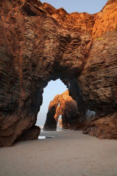 Beach Cathedral, Galacia, Spain photo via crafty