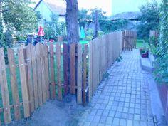 Kerítés raklapból ( pallet fence )