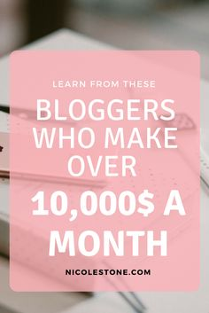 Make money blogging. Read how these 5 bloggers make over 10,000 a month blogging. Become inspired and checkout their sites. YOU CAN leave your job to work for yourself.