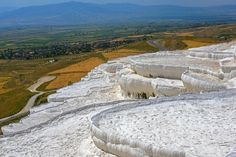Listed in 2014 as the most visited attraction of Turkey, and nicknamed the Cotton Castle, the travertine pools of Pamukkale and the nearby historical ruins of the ancient city of Hierapolis are another UNESCO World Heritage site worth visiting. Including the famous Cleopatra's pool and the museum of Hierapolis, it is located in the region of Denizli in central Anatolia