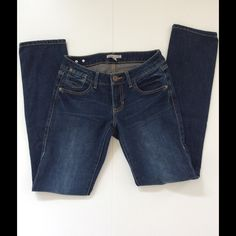 """CAbi Ruby Jean NWOT CAbi skinny jeans with 5 pocket styling  Dark rinse with factory fading These jeans are very comfortable and well made. They have a little stretch but hold their shape well  I own a few pairs and a accidentally bought more  Waist 29""""; hip 37""""; rise 7.5""""; inseam 32""""88% cotton; 11% polyester; 1% elastase NWOT (CAbi doesn't have tags). Smoke free home  CAbi Jeans Skinny"""