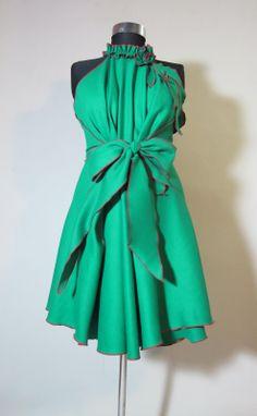 Cute green bridesmaids dress idea.