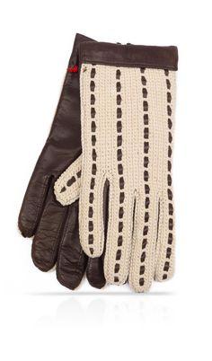 Guanti Uomo con palmo in pelle di agnello di colore Testa di Moro Beige e  sopra mano in cotone a lavorazione uncinetto 39ba0c117e9e