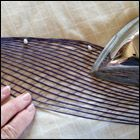 weaving a flax fantail step 37