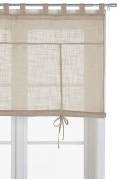 ellos - cotton roll-up blind #shabbychickitchencurtains