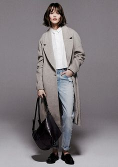 Mango Pre-Fall 2014 - The Mango Pre-Fall 2014 collection encourages women to embrace a casually sophisticated wardrobe for the transitional weather between summer and fa. Tomboy Fashion, Look Fashion, Fashion Outfits, Womens Fashion, Fashion Beauty, Normcore, Mode Style, Style Me, Tomboy Stil