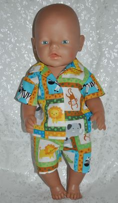 Dolls Clothes for 17  Baby Born Dolls ~ Reborn Dolls ~ Summer Pj s Zoo Animals 2