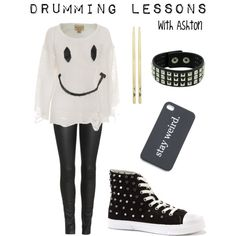 Drumming Lessons - with Ashton, created by imagine-5sos on Polyvore