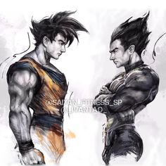 """1,874 Likes, 24 Comments - Shane Puckett (@saiyan_fitness_sp) on Instagram: """"Better as enemies or allies? Art by @_ivantao_ • • • #supersaiyan #dragonballz #fitlife #gym…"""""""