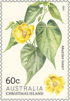 The flowers of Christmas Island featured on our #stamps