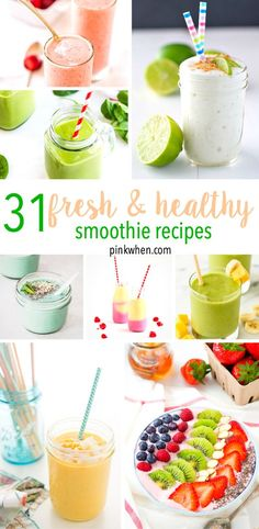 Grab an entire month's worth of smoothies with this list of 31 fresh and healthy…