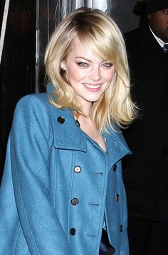 Taking Girl Next Door To An Even Cuter Level, We Love Emma Stone's Side-Swept Fringe