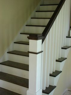 Stair railing and newel post