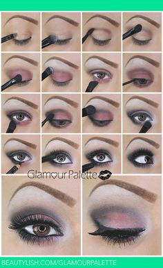 Smokey Eye with a hint of Pink